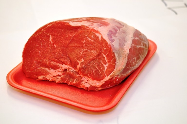 Beef Round Tip Roast Cap Off